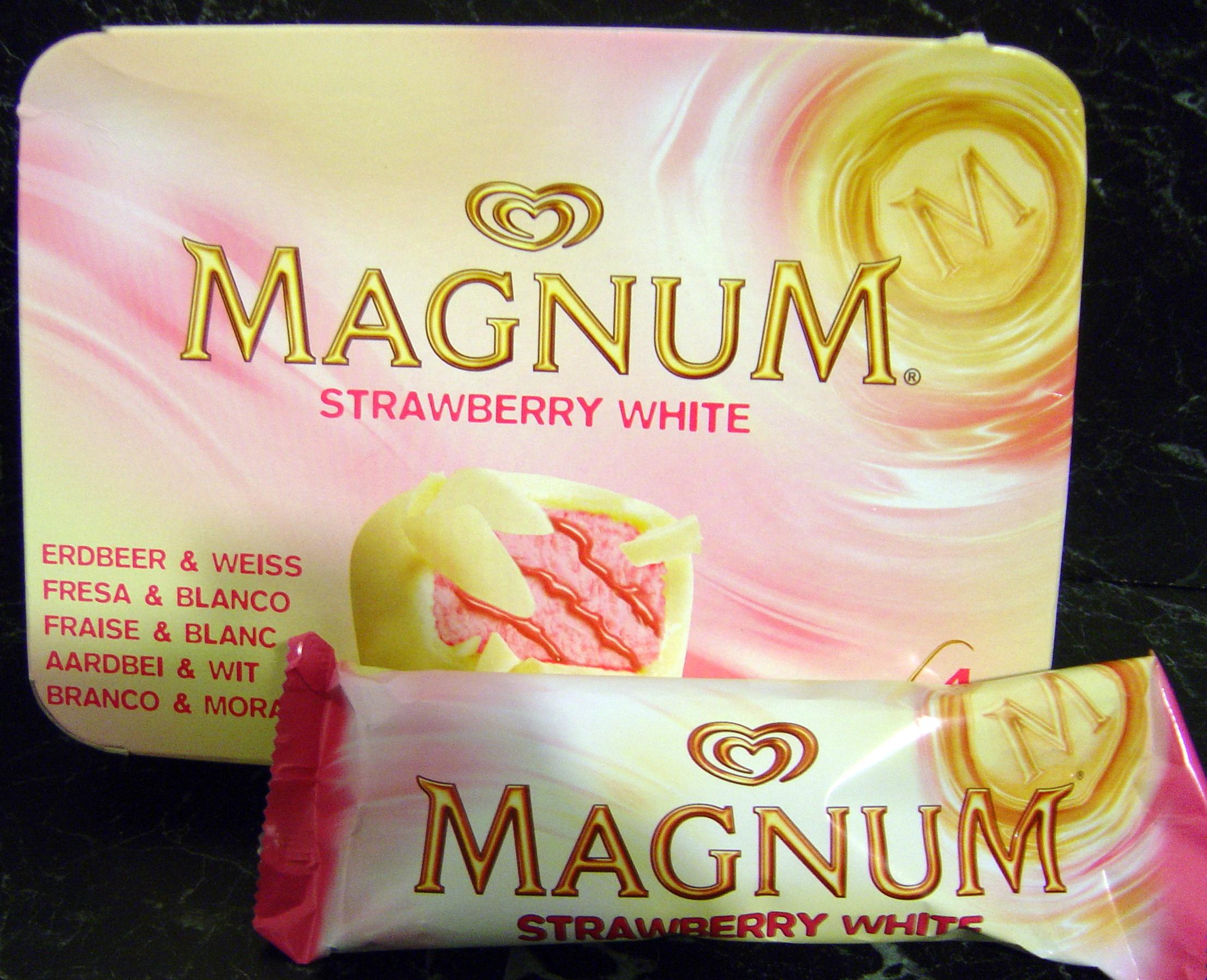 Les glaces veggie en folie veggy up - Magnum chocolat blanc ...
