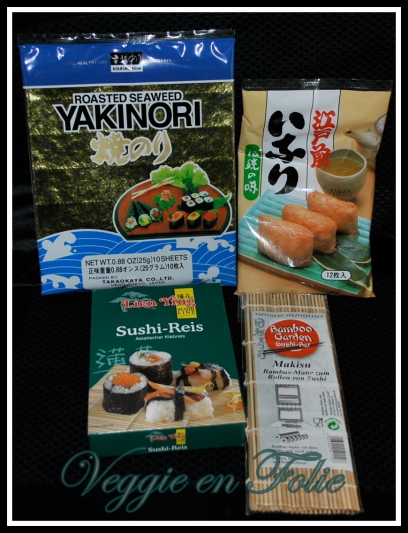 necessaires a sushi veggie folie